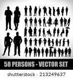 collection of 58 realistic... | Shutterstock .eps vector #213249637