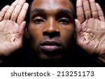 hands up don't shoot gesture by ... | Shutterstock . vector #213251173