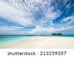 tropical beach  island resort... | Shutterstock . vector #213259357