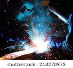 teamwork in welder skill up | Shutterstock . vector #213270973