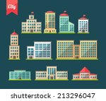 Set Of Vector Flat Design...