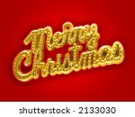 christmas sign | Shutterstock . vector #2133030