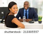 attractive african office... | Shutterstock . vector #213305557