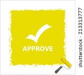 beautiful approve web icon | Shutterstock . vector #213313777