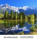 city park in the mountain... | Shutterstock . vector #213313903