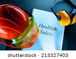 safety goggles  earphones and... | Shutterstock . vector #213327403