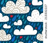 rainy seamless pattern with... | Shutterstock .eps vector #213332227