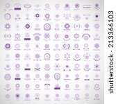 snowflake icons set   isolated... | Shutterstock .eps vector #213366103