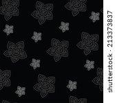 vector pattern of flowers  | Shutterstock .eps vector #213373837