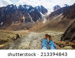 in the mountains. freedom... | Shutterstock . vector #213394843