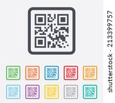 qr code sign icon. scan code... | Shutterstock .eps vector #213399757