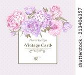 gentle pink vintage floral... | Shutterstock .eps vector #213406357