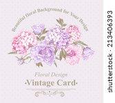 gentle pink vintage floral... | Shutterstock .eps vector #213406393