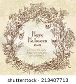 halloween decorative wreath  ... | Shutterstock .eps vector #213407713