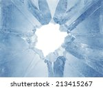 3d Broken Blue Ice Background ...