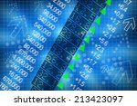 shares price go up on computer... | Shutterstock . vector #213423097
