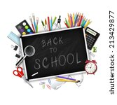 back to school background with... | Shutterstock .eps vector #213429877