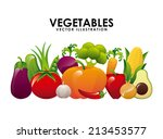 organic product over  white... | Shutterstock .eps vector #213453577