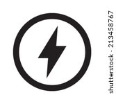 lightning bolt vector icon | Shutterstock .eps vector #213458767