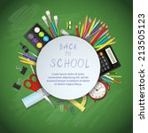 back to school background with... | Shutterstock .eps vector #213505123