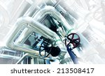 equipment  cables and piping as ... | Shutterstock . vector #213508417