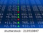 digital stock exchange panel | Shutterstock . vector #213510847