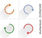 4 arrow icon refresh  rotation  ... | Shutterstock .eps vector #213562183