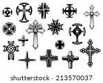 religious crosses set isolated... | Shutterstock .eps vector #213570037
