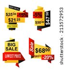 set of banner origami business... | Shutterstock .eps vector #213572953