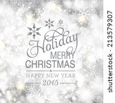 vector merry christmas and... | Shutterstock .eps vector #213579307