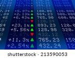 stock exchange market display... | Shutterstock . vector #213590053
