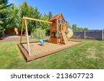 Playground For Kids On Backyar...