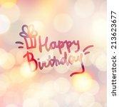 happy birthday  vector... | Shutterstock .eps vector #213623677