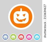 halloween pumpkin icon   Shutterstock .eps vector #213634627