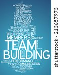 word cloud with team building... | Shutterstock . vector #213657973