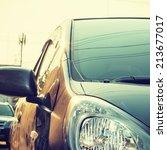 city car   instagram filter | Shutterstock . vector #213677017