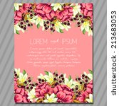wedding invitation cards with... | Shutterstock .eps vector #213683053