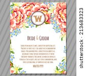 wedding invitation cards with... | Shutterstock .eps vector #213683323