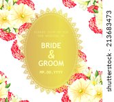 wedding invitation cards with... | Shutterstock .eps vector #213683473