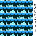 seamless pattern of fairy town. | Shutterstock .eps vector #213693427