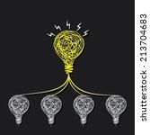 small idea make big idea or... | Shutterstock .eps vector #213704683