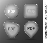 pdf. glass buttons. vector... | Shutterstock .eps vector #213706327