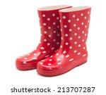 red boots on white | Shutterstock . vector #213707287