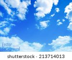 cloudy blue sky vector... | Shutterstock .eps vector #213714013