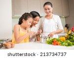 curious children looking into... | Shutterstock . vector #213734737