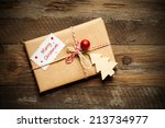 vintage gift box | Shutterstock . vector #213734977