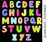 cartoon alphabet  | Shutterstock . vector #213748447