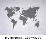 world map on the white wall... | Shutterstock . vector #213790333