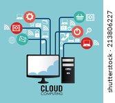 technology design over blue... | Shutterstock .eps vector #213806227