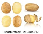 Collection Of Potatoes Peeled ...